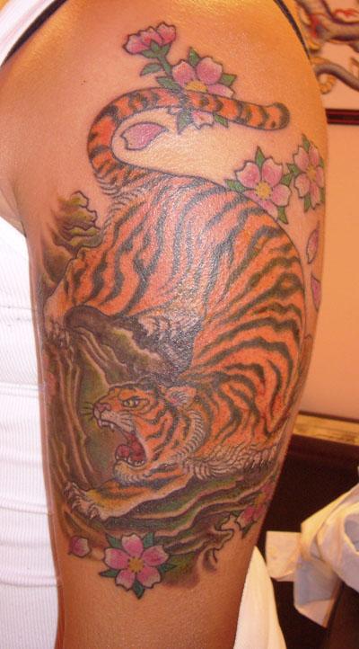 Orange Tiger Tattoo